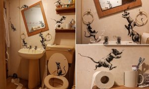banksy bathroom rats