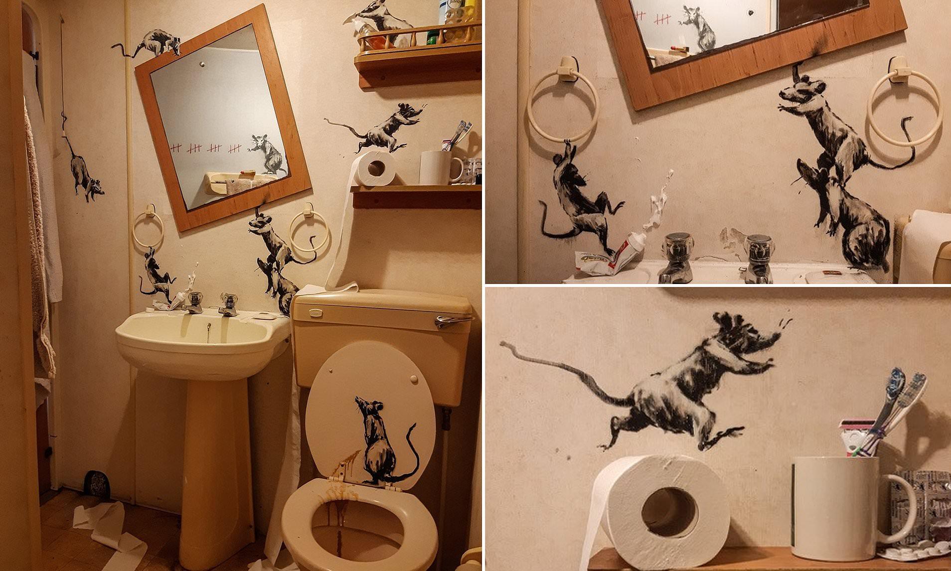 banksy bathroom rats
