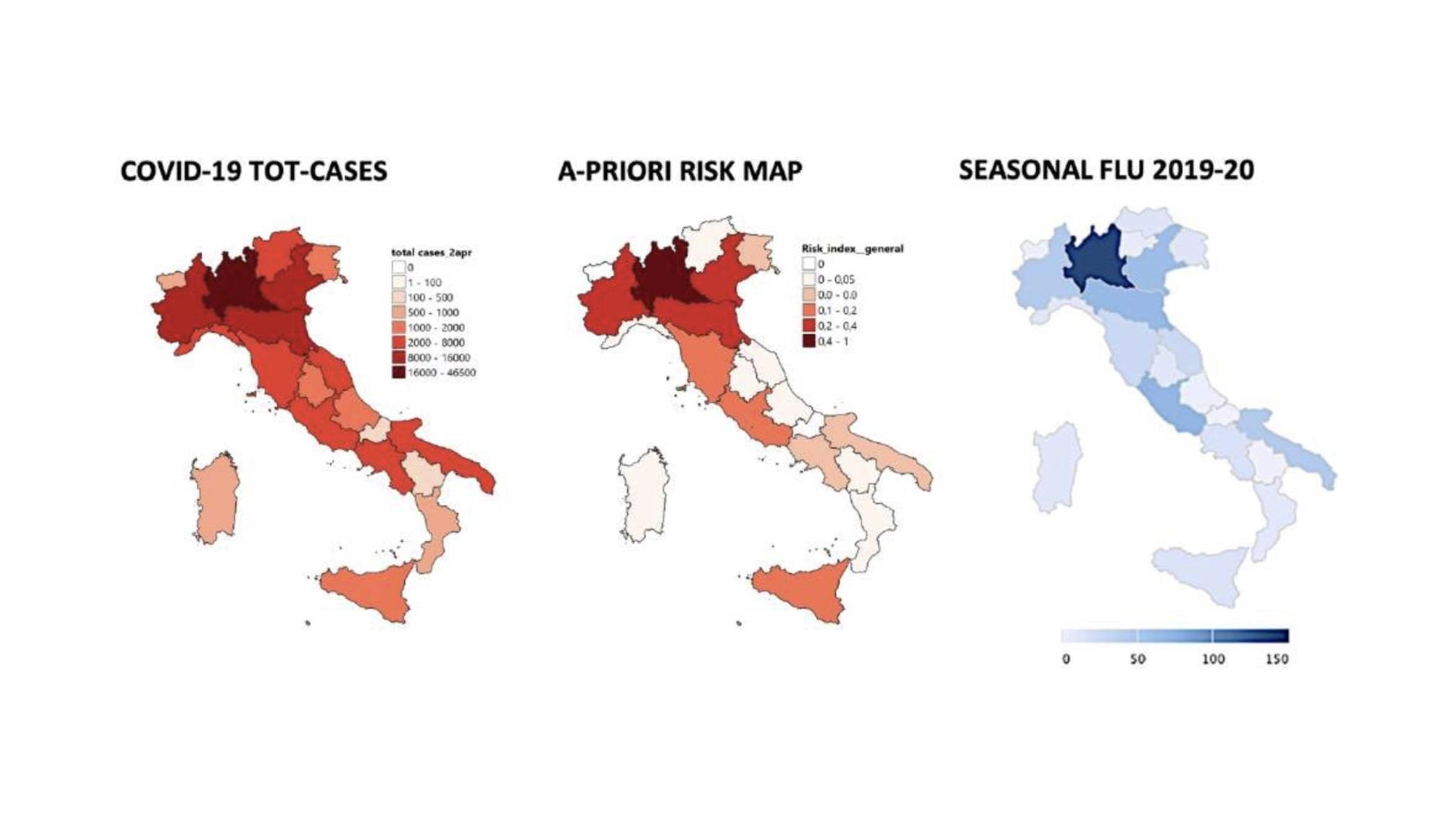 Cartina Italia Centrale E Meridionale.Emergenza Covid Studio Sulle Possibili Cause Della Diversa Diffusione In Italia Sikelian