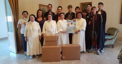 I giovani DeMolay di Catania donano 4.000 mascherine alle suore