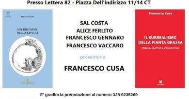I due ultimi libri di Francesco Cusa – 22 settembre